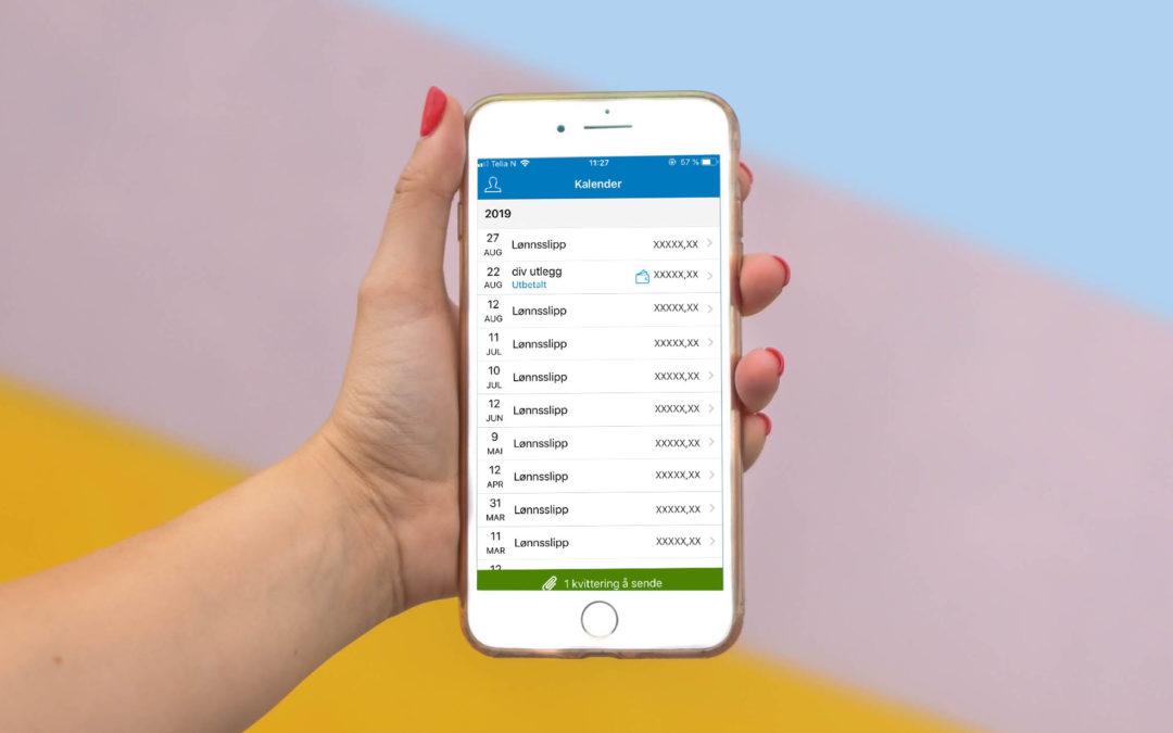 Få lønnsslippene på mobilen