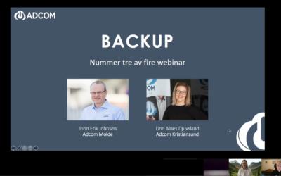 Innspilling av webinaret om backup